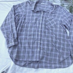 Old Navy Button Up Plaid Classic Shirt